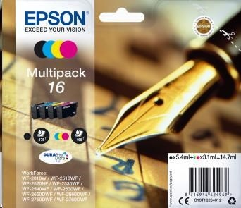 EPSON ink 16 Series 'Pen and Crossword' multipack