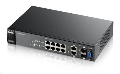Zyxel GS2210-8 10-port Managed L2+ Gigabit Switch, 8x gigabit RJ45, 2x gigabit RJ45/SFP