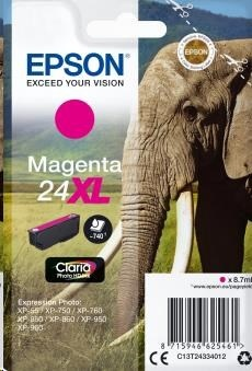 EPSON ink bar Singlepack Magenta 24XL Claria Photo HD Ink