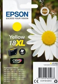 EPSON ink bar Singlepack Yellow 18XL Claria Home Ink