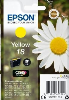 EPSON ink bar Singlepack Yellow 18 Claria Home Ink