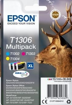 EPSON ink Multipack 3-colours T1306 DURABrite Ultra Ink