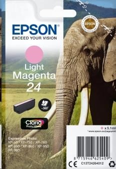 EPSON ink bar Singlepack Light Magenta 24 Claria Photo HD Ink
