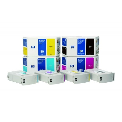 HP 80 Magenta DJ Ink Cart, 175 ml, C4874A