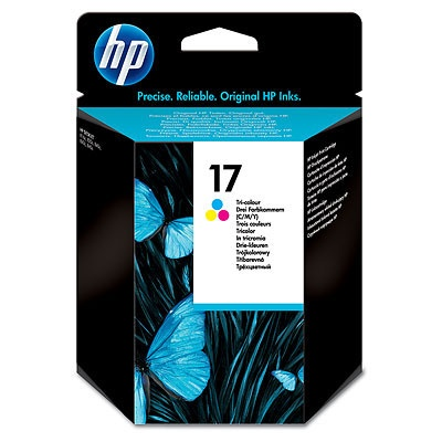 HP 17 Tri-color Ink Cart, 15 ml, C6625A