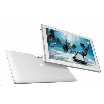 """ACER Iconia One 10 - MT8163@1.3GHz,10.1"""" IPS HD (1280x800) touch.,2GB,16GB eMMC,BT,GPS,micSD,micUSB,LTE,Android 7, bílý"""